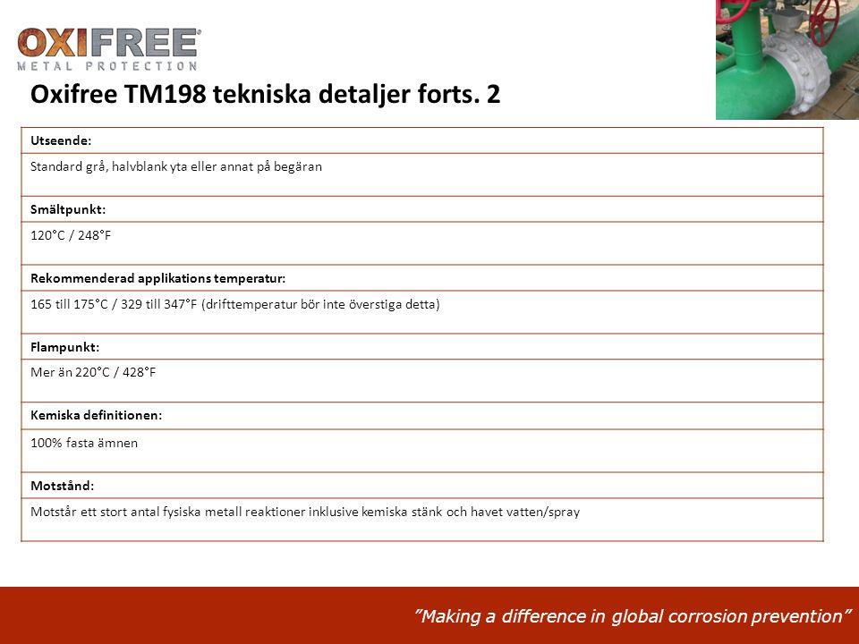 """""""Making a difference in global corrosion prevention"""" Utseende: Standard grå, halvblank yta eller annat på begäran Smältpunkt: 120  C / 248  F Rekomm"""