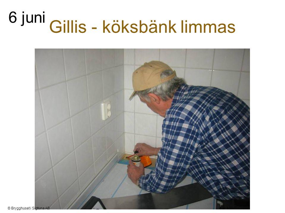 Gillis - köksbänk limmas 6 juni © Brygghuset i Sigtuna AB