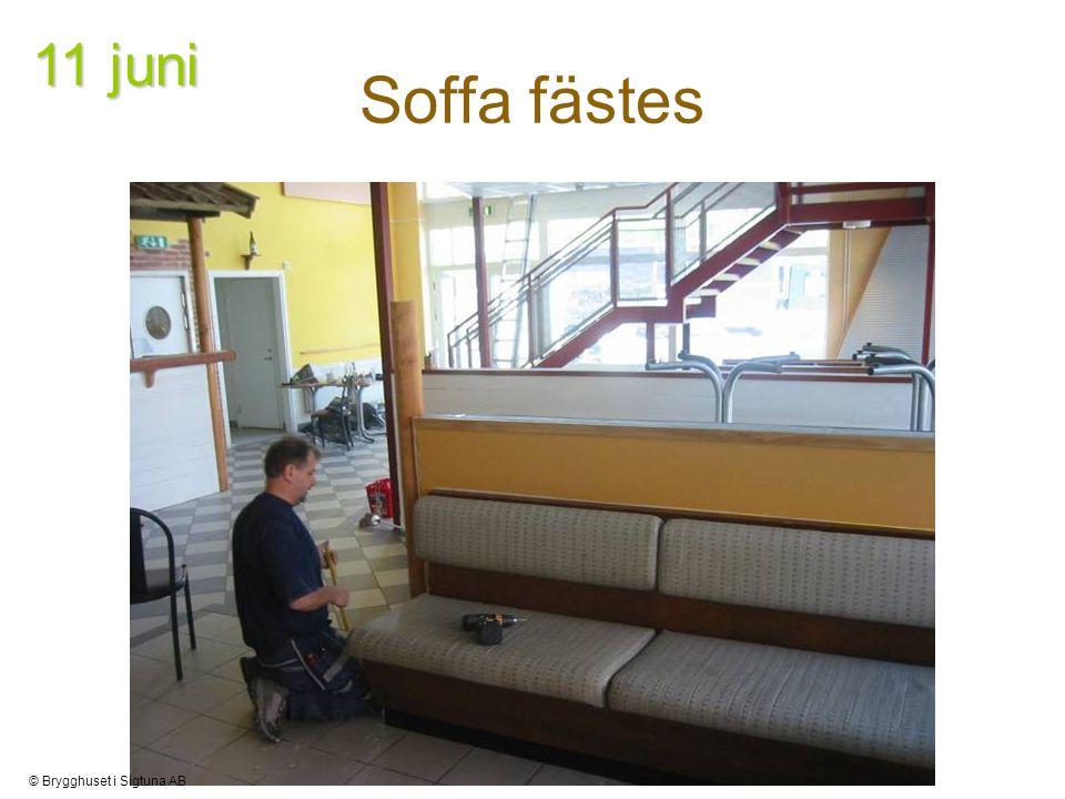 Soffa fästes 11 juni © Brygghuset i Sigtuna AB