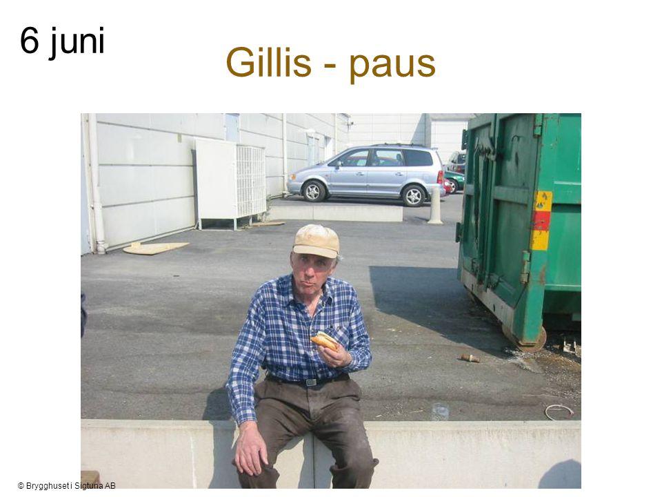 Gillis - paus 6 juni © Brygghuset i Sigtuna AB