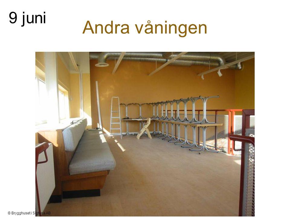 Andra våningen 9 juni © Brygghuset i Sigtuna AB
