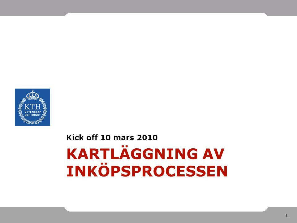 1 KARTLÄGGNING AV INKÖPSPROCESSEN Kick off 10 mars 2010