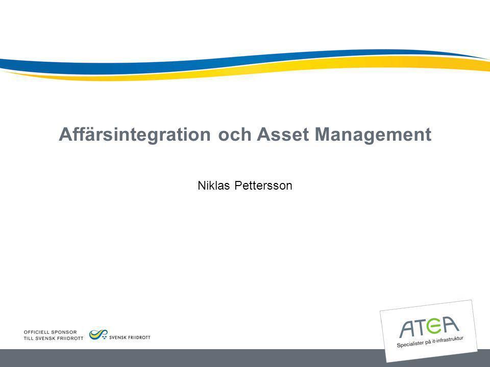 Affärsintegration och Asset Management Niklas Pettersson