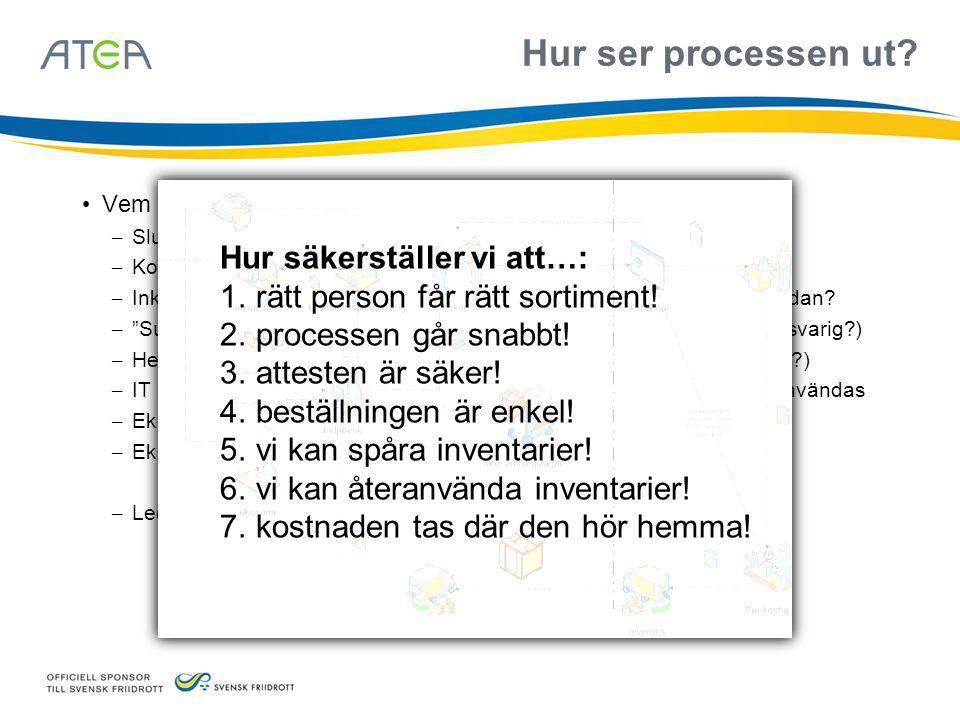 """Hur ser processen ut? • Vem är inblandad? – Slutanvändaren – behöver ett """"nytt"""" verktyg – Kostnadsställesansvarig – attesterar (och lägger beställning"""