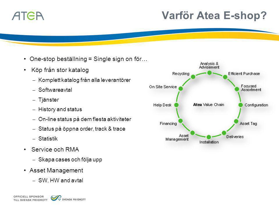 Hela marknaden genom Atea.Virtuellt lager på över 5 mlrd.