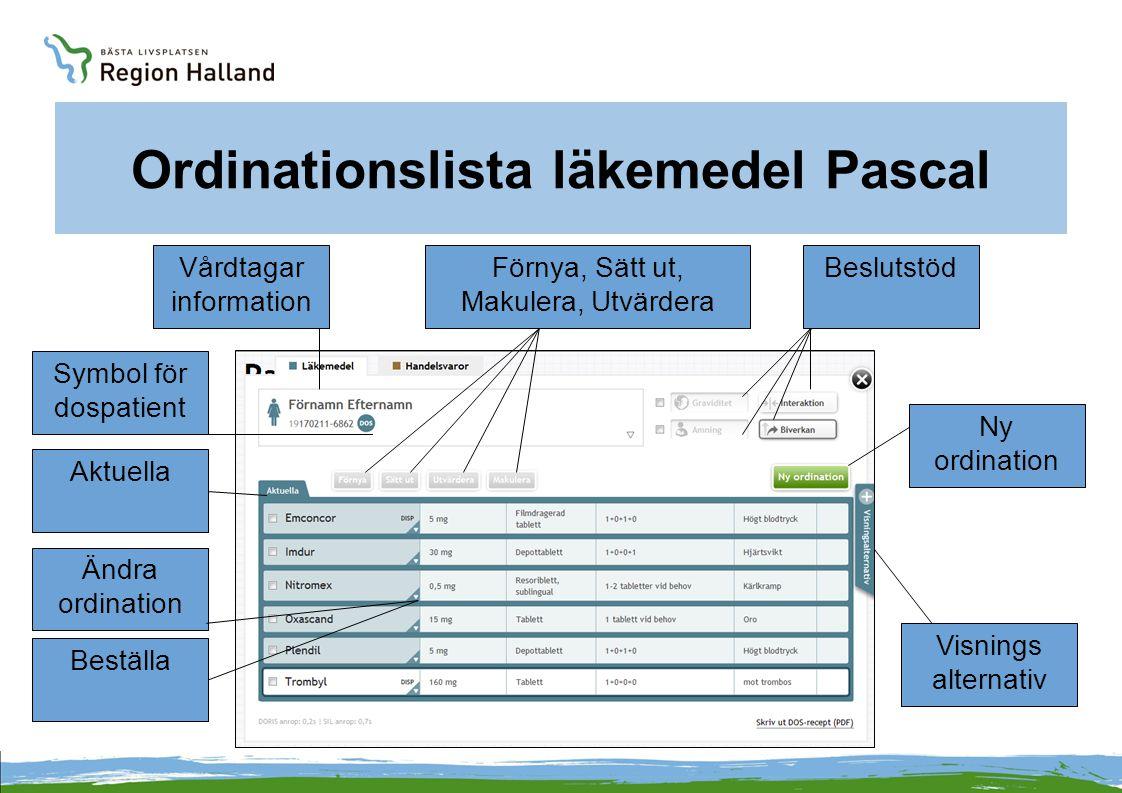 Vårdtagarinformation i Pascal Hittas under vårdtagarens namn.