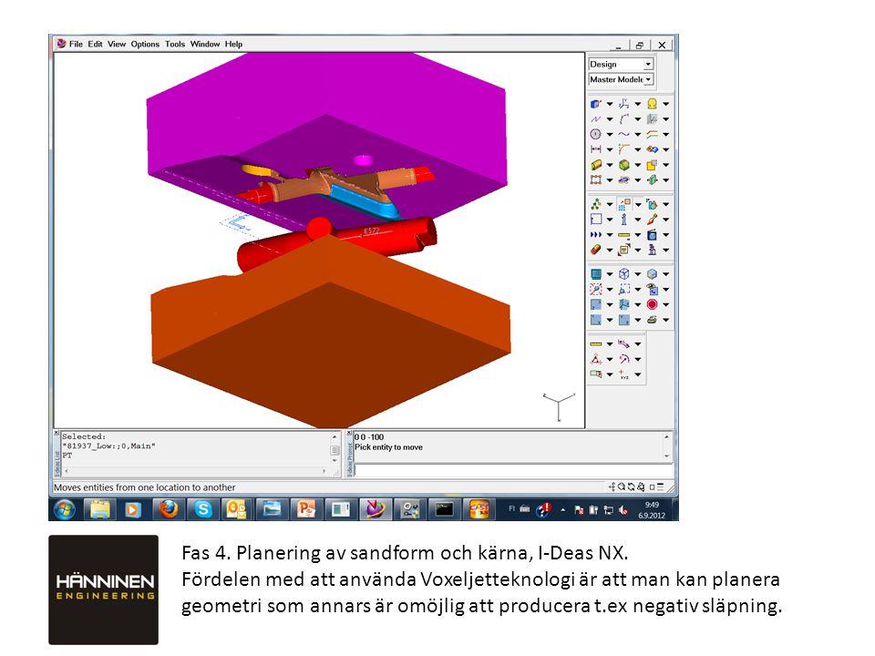 Fas 4.Planering av sandform och kärna, I-Deas NX.
