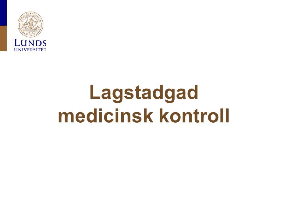 Lagstadgad medicinsk kontroll