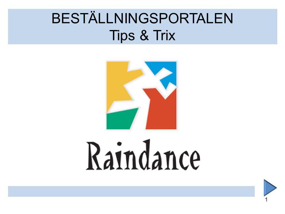 1 BESTÄLLNINGSPORTALEN Tips & Trix