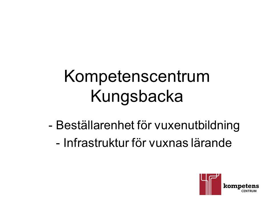 Kompetenscentrum Kungsbacka - Beställarenhet för vuxenutbildning - Infrastruktur för vuxnas lärande