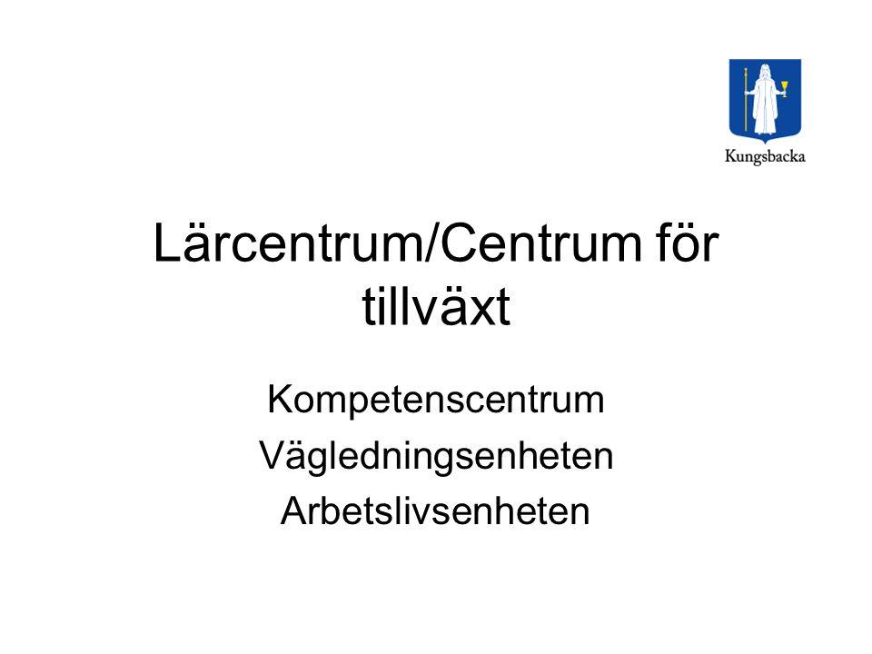 Lärcentrum/Centrum för tillväxt Kompetenscentrum Vägledningsenheten Arbetslivsenheten