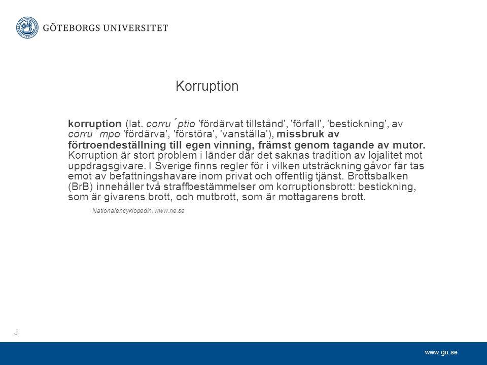 www.gu.se korruption (lat.