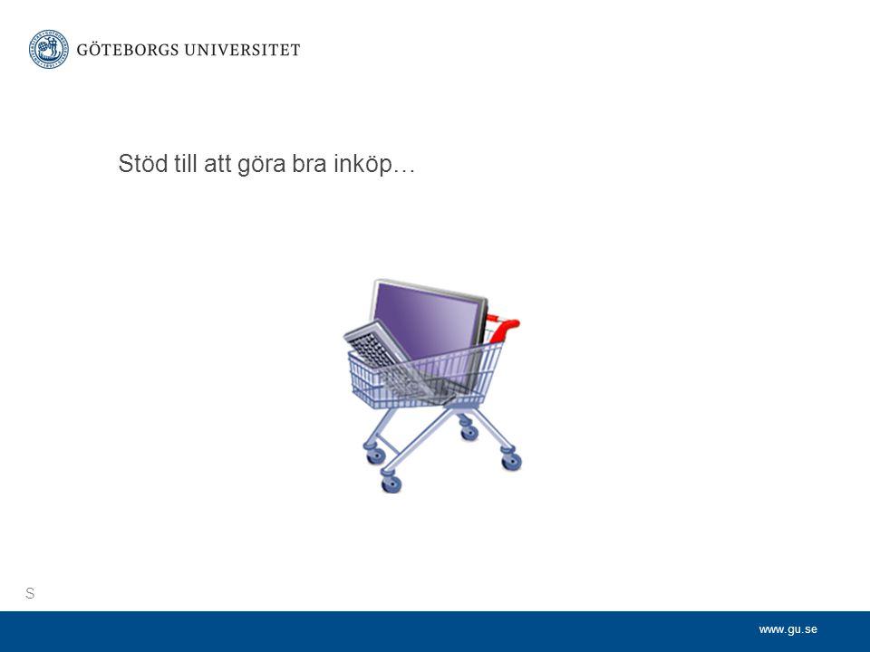 www.gu.se Stöd till att göra bra inköp… S
