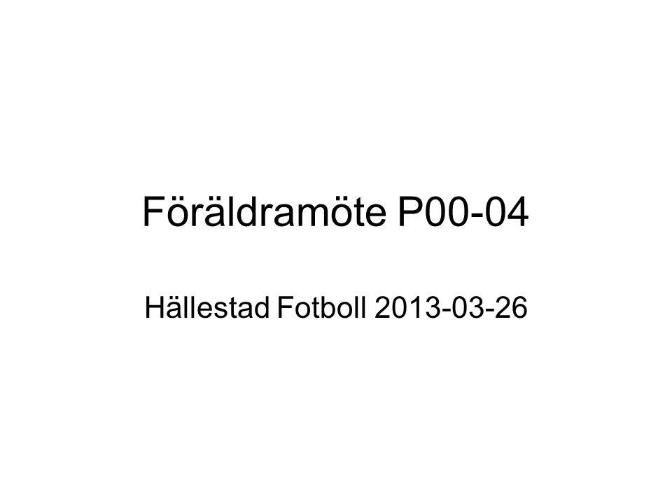 Föräldramöte P00-04 Hällestad Fotboll 2013-03-26