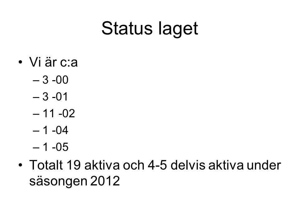 Seriespel 2013 •2 lag anmälda: –P12 –P11 •Båda spelar 7 manna serie, med matcher c:a 1 ggr per vecka