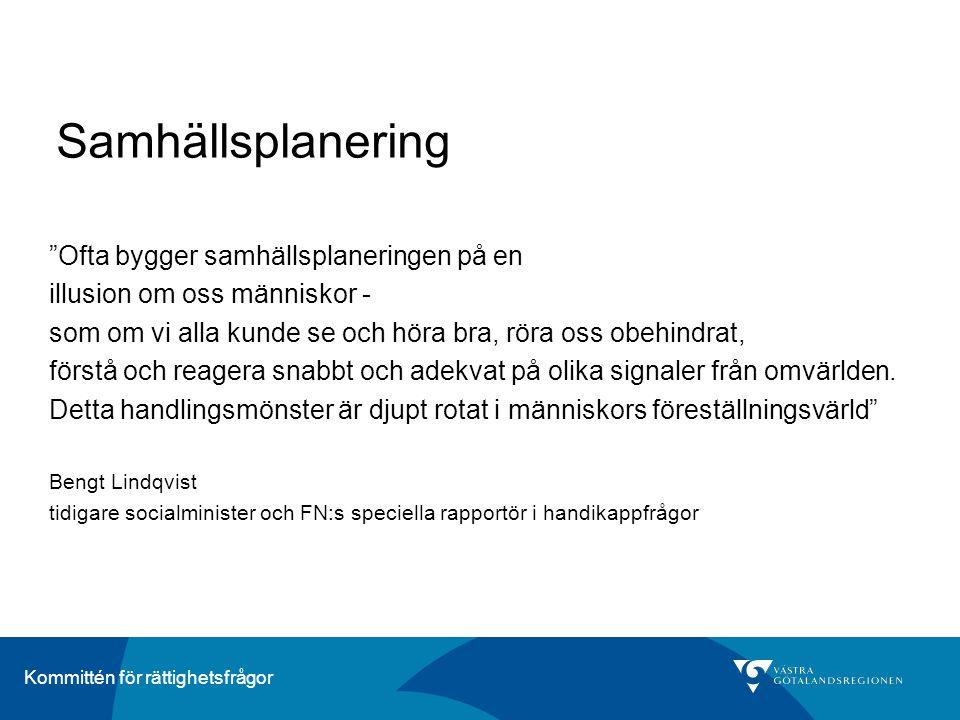 Kommittén för rättighetsfrågor VG Primärvård – val av vårdcentral Informationskampanj med bland annat brev till invånarna, broschyr på vårdcentraler och apotek, samt information på webben.