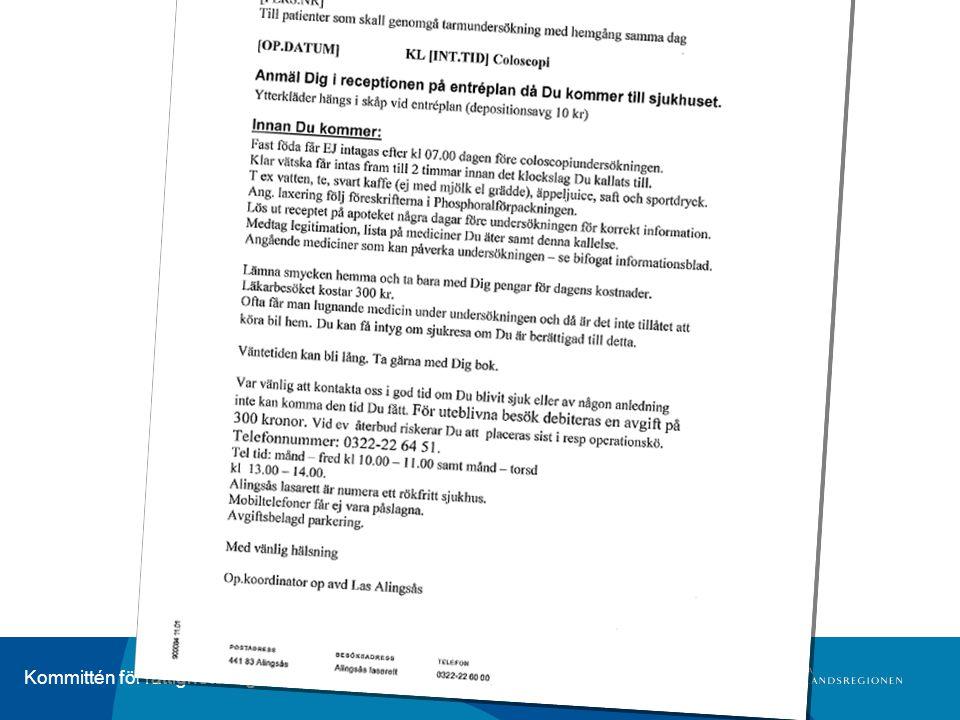 Kommittén för rättighetsfrågor Fokusgruppsstudie Anpassad information •I vilka situationer.