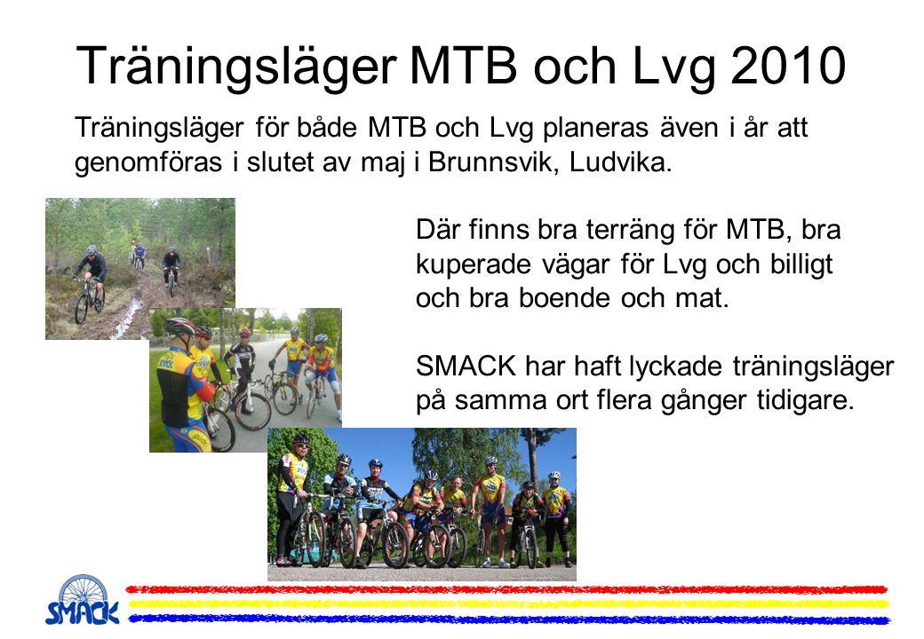 Träningsläger MTB och Lvg 2010 Träningsläger för både MTB och Lvg planeras även i år att genomföras i slutet av maj i Brunnsvik, Ludvika. Där finns br
