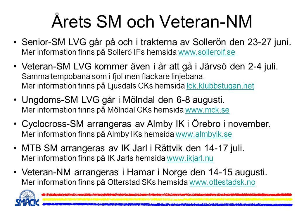 Årets SM och Veteran-NM •Senior-SM LVG går på och i trakterna av Sollerön den 23-27 juni. Mer information finns på Sollerö IFs hemsida www.solleroif.s
