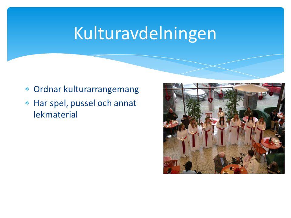 Kulturavdelningen  Ordnar kulturarrangemang  Har spel, pussel och annat lekmaterial