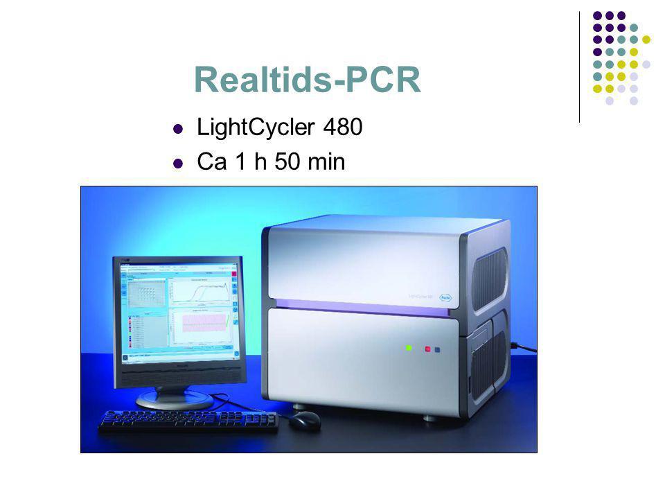 Realtids-PCR  LightCycler 480  Ca 1 h 50 min