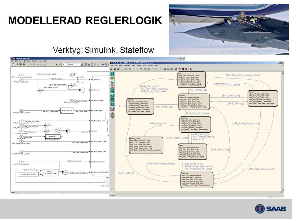 MODELLERAD REGLERLOGIK Verktyg: Simulink, Stateflow