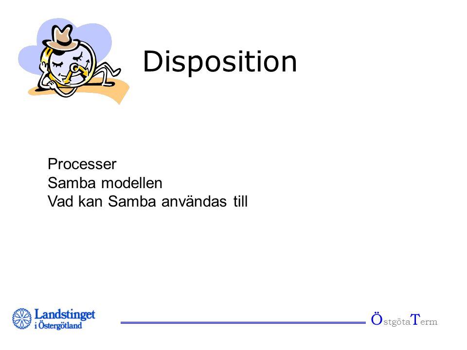 Ö stgöta T erm Disposition Processer Samba modellen Vad kan Samba användas till