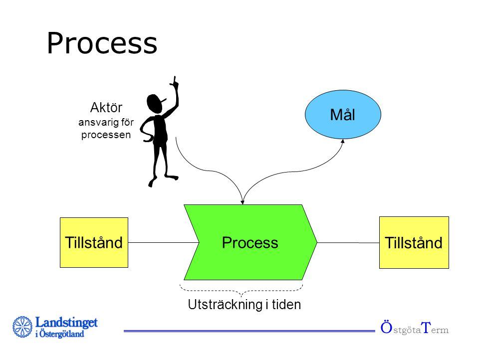 Ö stgöta T erm Process Tillstånd Aktör ansvarig för processen Tillstånd Utsträckning i tiden Mål
