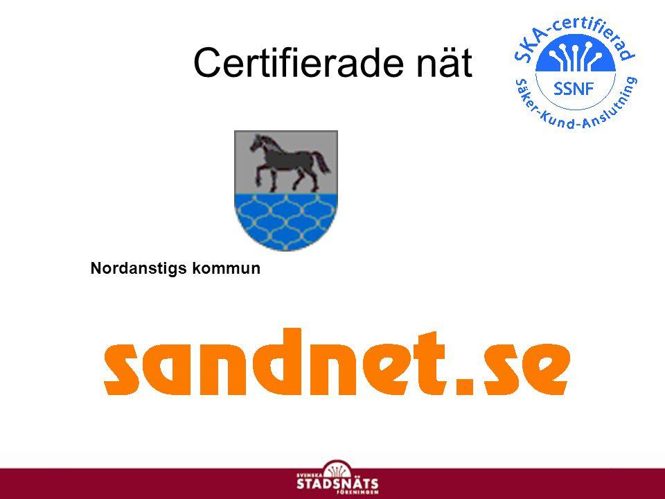 Certifierade nät Nordanstigs kommun