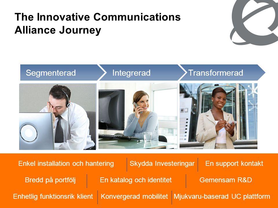 22 The Innovative Communications Alliance Journey Transformerad Integrerad •Unified Communications genom hela affärprocessen •Användar fokuserade lösn
