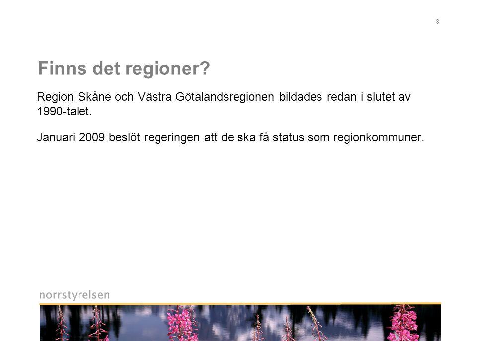 8 Finns det regioner.