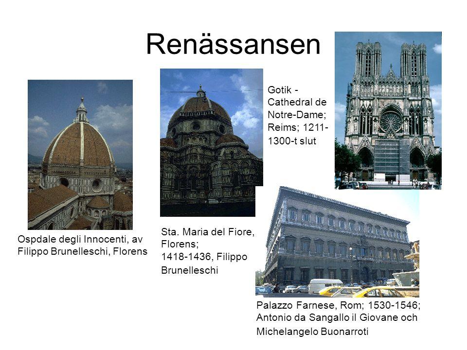 Renässansen Ospdale degli Innocenti, av Filippo Brunelleschi, Florens Sta.