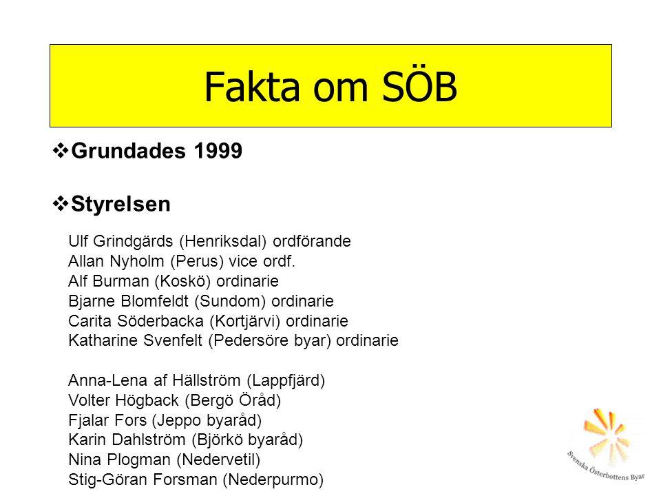 Ulf Grindgärds (Henriksdal) ordförande Allan Nyholm (Perus) vice ordf. Alf Burman (Koskö) ordinarie Bjarne Blomfeldt (Sundom) ordinarie Carita Söderba