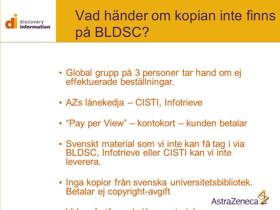 Vad händer om kopian inte finns på BLDSC.