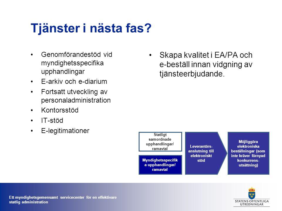 Ett myndighetsgemensamt servicecenter för en effektivare statlig administration Varför en ny myndighet.