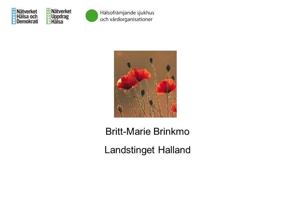 Britt-Marie Brinkmo Landstinget Halland