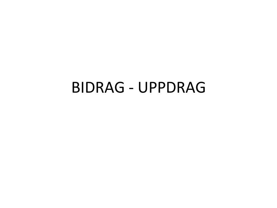 BIDRAG - UPPDRAG