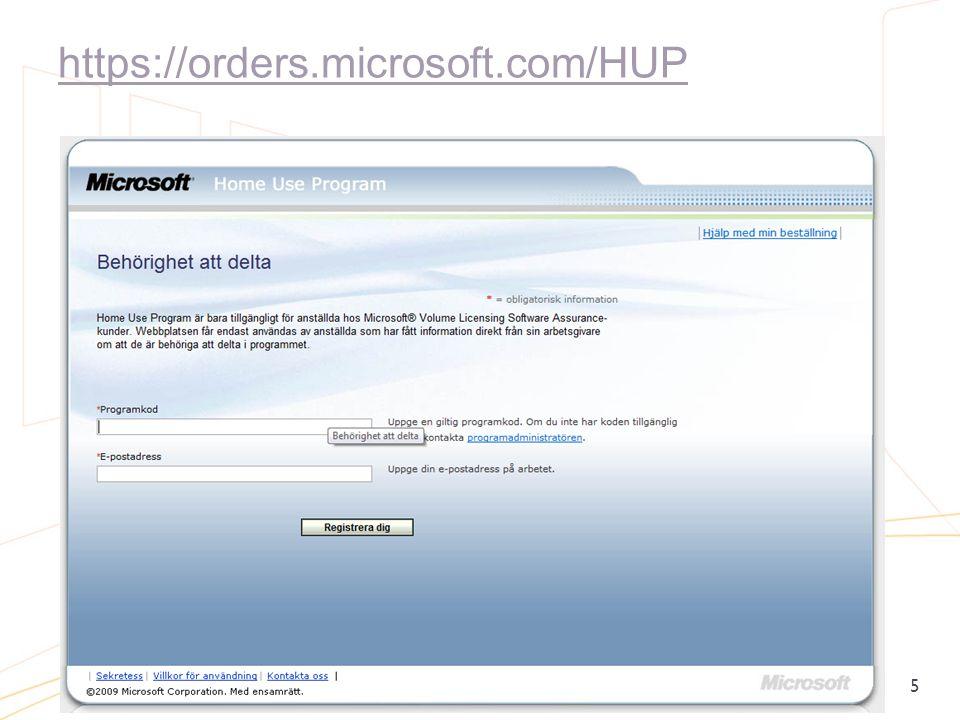 https://orders.microsoft.com/HUP 5