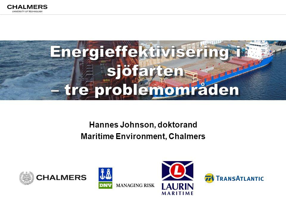 Hannes Johnson, doktorand Maritime Environment, Chalmers