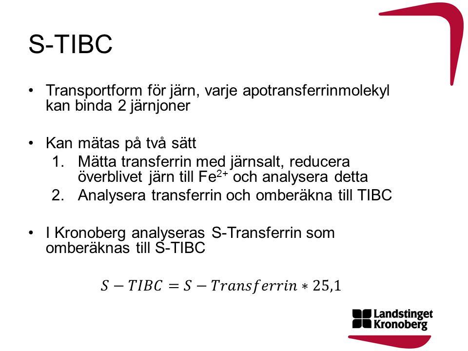 •Inflammation •Transferrinvarianter (icke-europeiska populationer) kan ge felaktiga värden vid mätning av transferrin