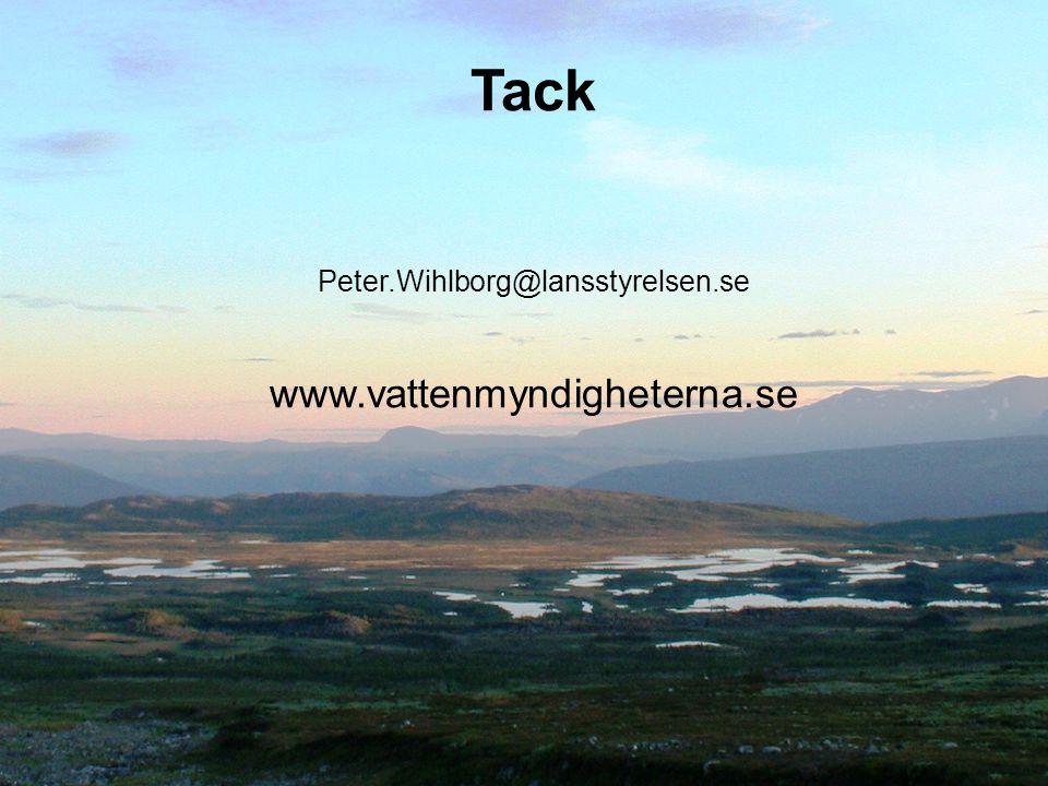 Tack Peter.Wihlborg@lansstyrelsen.se www.vattenmyndigheterna.se