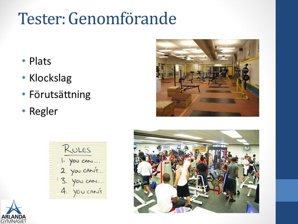 Tester: Resultat & Utvärdering • Resultat • Hur redovisas resultaten.