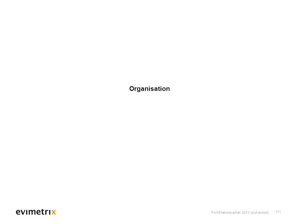 Fortifikationsverket 2011 (slutversion) 111 Organisation