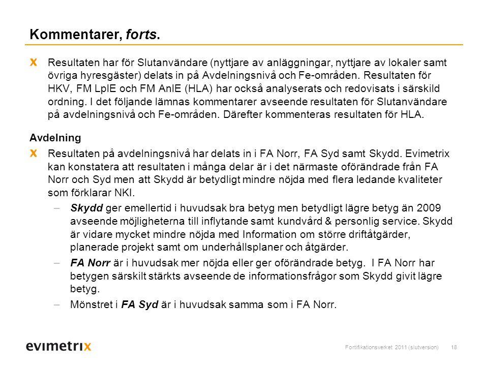 Fortifikationsverket 2011 (slutversion)18 Kommentarer, forts.