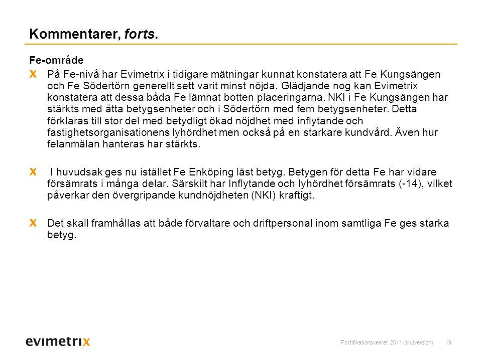 Fortifikationsverket 2011 (slutversion)19 Kommentarer, forts.