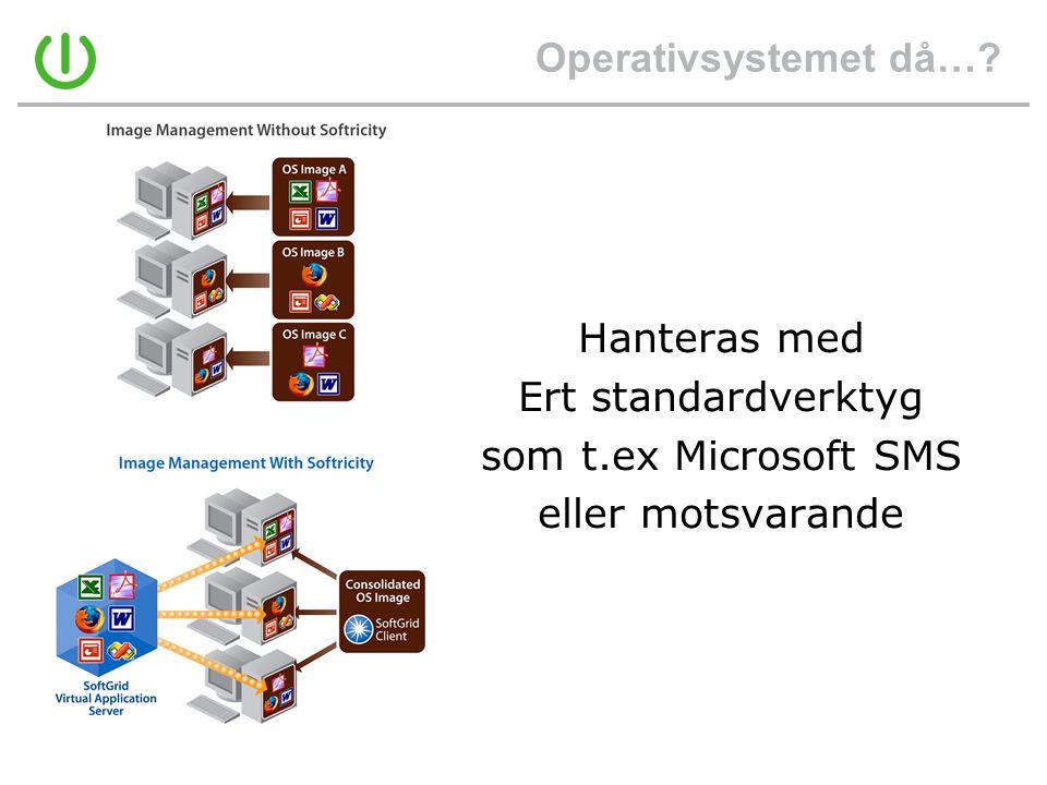 Operativsystemet då…? Hanteras med Ert standardverktyg som t.ex Microsoft SMS eller motsvarande