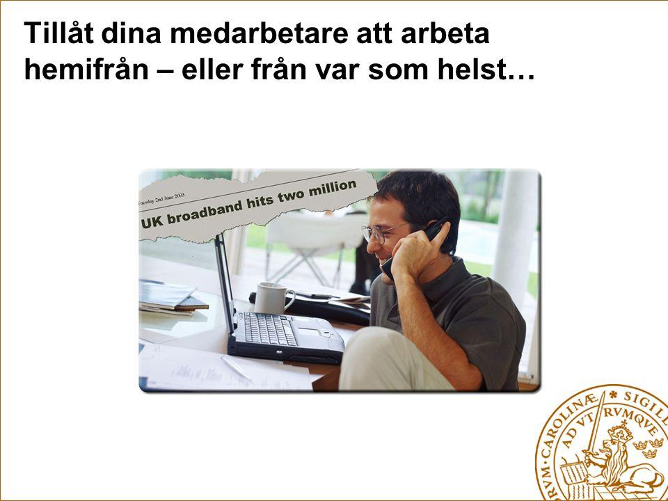 Sammansmältningen av kontors- telefonen och mobiltelefonen… Ringer på bägge telefoner… Telefonisten kan se om du är upptagen på mobiltelefonen…