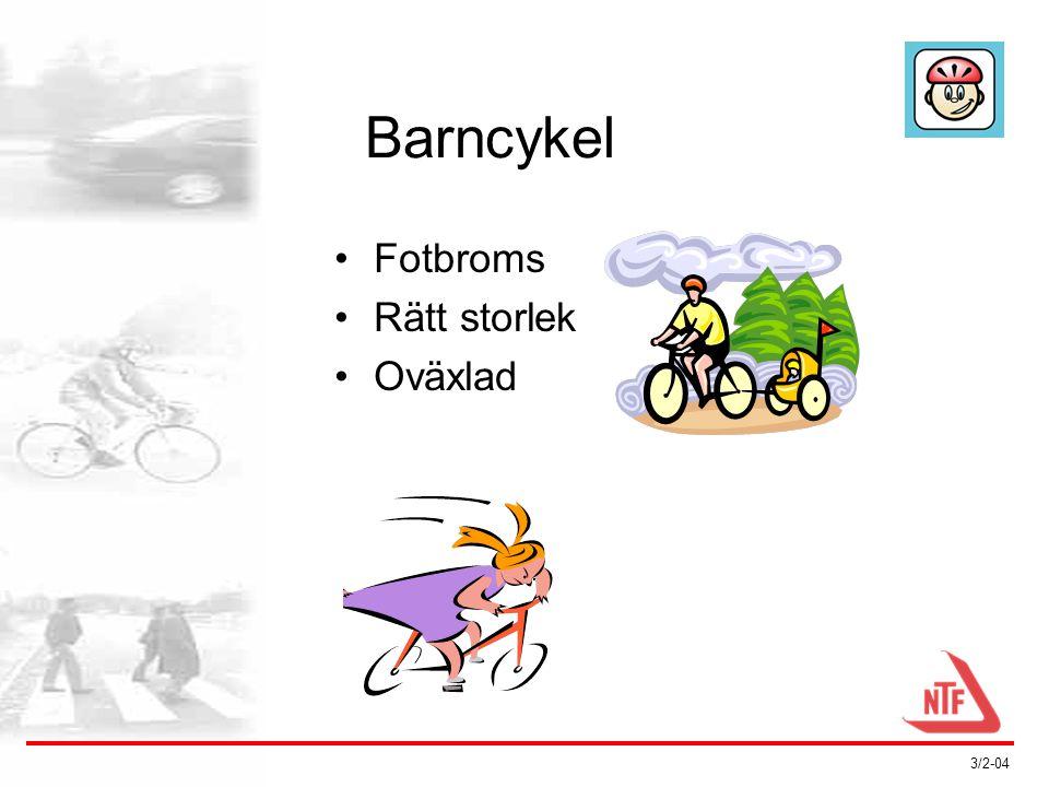 3/2-04 Hemsidan Cykelfakta •Utfärdas av SMP Svensk Maskinprovning •Stöds av: