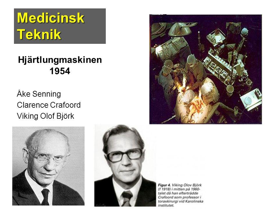Medicinsk Teknik Hjärtlungmaskinen 1954 Åke Senning Clarence Crafoord Viking Olof Björk