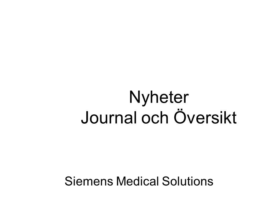 Nyheter Journal och Översikt Siemens Medical Solutions